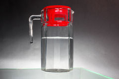 Glass pitcher. Of clear water Stock Photo