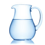 Glass pitcher of water. Glass pitcher of water, isolated on the white background, clipping path included Royalty Free Stock Photo