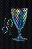 glass plast- skedar två Fotografering för Bildbyråer