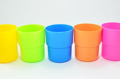 Glass, plastic, assorted colors. Royalty Free Stock Photos
