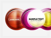 Glass or plastic hi-tech bubble background. Vector illustration Royalty Free Illustration