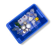 Glass Plastic Metal Recycling Bin Stock Image