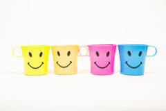Glass, plastic smile Stock Images