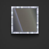 Glass plate with metal frame Stock Photo