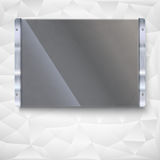 Glass plate with metal frame Royalty Free Stock Photos