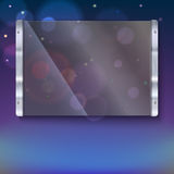Glass plate with metal frame Stock Image