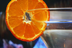 Glass with a plate orange Stock Image