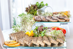 Glass plate with pate Royalty Free Stock Photography