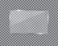 Glass plate on transparent background. stock illustration
