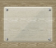Glass plate on Wood Royalty Free Stock Photo