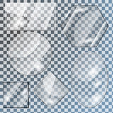 Glass plates Royalty Free Stock Image