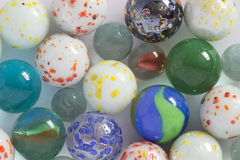 Glass playing marbles, different color. Stock Photo