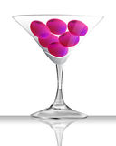 Glass of plum Stock Images
