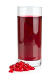 Glass of pomegranate juice Royalty Free Stock Photography