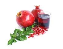 Glass of pomegranate juice Stock Image