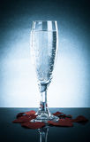 Glass with a pop and valentines on a gray background. With Refle Stock Images