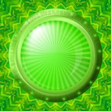 Glass porthole on green background Royalty Free Stock Images