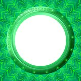 Glass porthole on green background. Abstract color background, round button - porthole on green wall, vector eps10 Royalty Free Stock Photo
