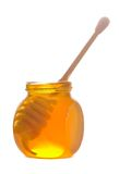 Honey in glass pot Royalty Free Stock Photography