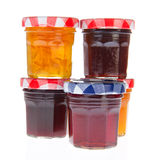 Glass pots of jam Stock Photography