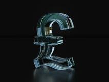 Glass pound symbol  3D illustration. Glass pound symbol on a black background. 3D illustration Stock Image