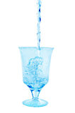 In glass poured of clean water Stock Images