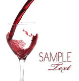 Glass of Pouring Wine Background Royalty Free Stock Photo