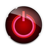 Glass power button icon . Vector illustration Royalty Free Stock Photo