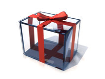 Glass present box Royalty Free Stock Images