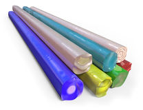 Glass pressing rods Royalty Free Stock Photo