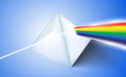Glass Prism. Vector illustration background Royalty Free Stock Photos