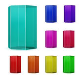Glass prisms Stock Image