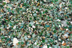 The glass processed by sea water Stock Photos