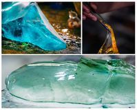 Glass Production Industry Set Royalty Free Stock Images