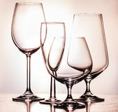 Glass. Products for the consumption of alcoholic beverages Royalty Free Stock Photo