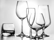 Glass. Products for the consumption of alcoholic beverages Royalty Free Stock Image