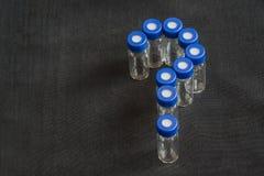 Glass provrör eller behållare Royaltyfri Foto