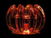 Glass Pumpkin. Lit up with color Royalty Free Stock Photo