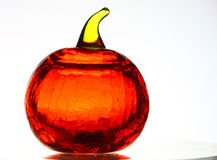 Glass Pumpkin on White Stock Images