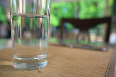 Glass of pure water Stock Photos