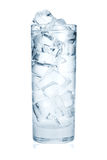 Glass of pure water with ice cubes Royalty Free Stock Photos