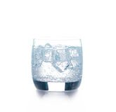Glass of pure water with ice cubes Stock Photography