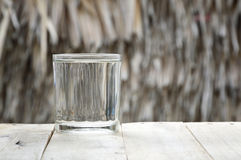 Glass of purified water Royalty Free Stock Photography