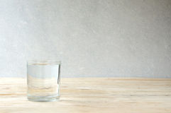 Glass of purified water Stock Images