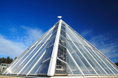 Glass pyramid Stock Image