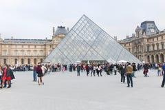 Glass pyramid Fotografering för Bildbyråer