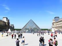 Glass pyramid Arkivfoto