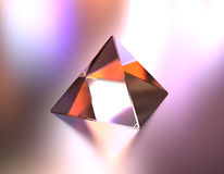 Glass pyramid color of lights Royalty Free Stock Photos