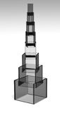 Glass pyramid Royalty Free Stock Image