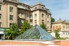 The Glass Pyramid Stock Photos